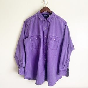 Men's Woolrich Purple Casual Button Down Shirt